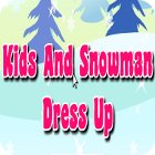 Kids And Snowman Dress Up παιχνίδι